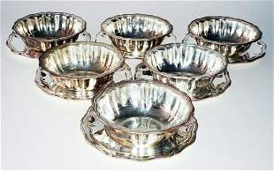 Vintage German 800 Silver Bowls & Saucer Makers Mark MC