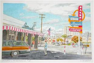 Orig Hawaii Painting Leonards Bakery Kapahulu 2 Segedin