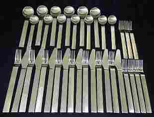 36 Mid Century Pure Stainless Flatware Settings