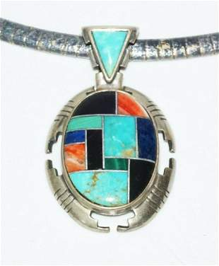 Italian Sterling Necklace Pendant by Carlisle Jewelry