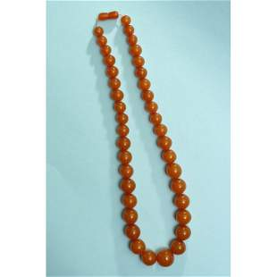 69g vintage natural butterscotch Baltic amber necklace