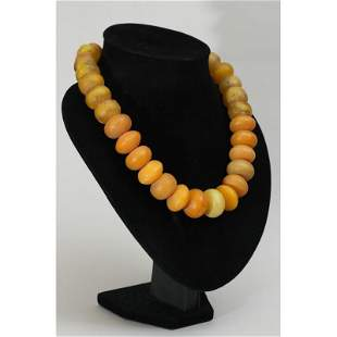 138g Baltic amber necklace vintage luxury butterscotch