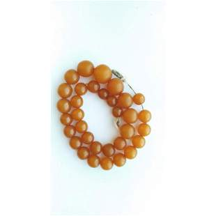 54g. Vintage natural Baltic amber necklace butterscotch