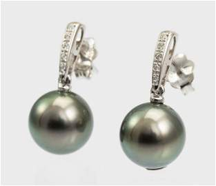 10x11mm Round Bright Tahitian Pearls - 14 kt. White
