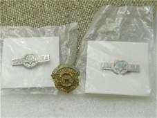 Vintage 3 Jewish War Veteran's Brooches, Service Pins