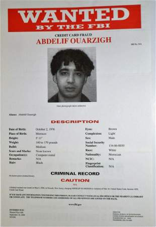 Abdelif Ouarzigh - Wanted for Credit Card Fraud