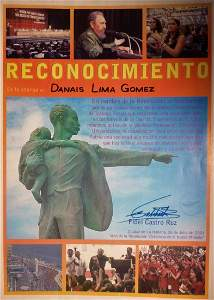 Signed citation from Fidel Castro