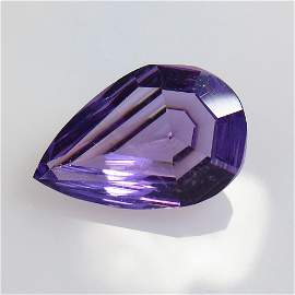 4.64 Ct Natural Purple Amethyst Pear Cut