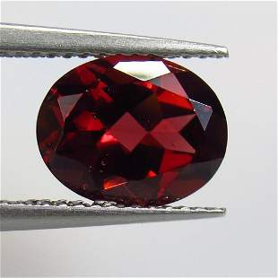 3.20 Ct Natural Rhodolite Garnet Oval Cut