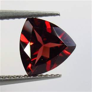 2.41 Ct Natural Rhodolite Garnet Trillion Cut
