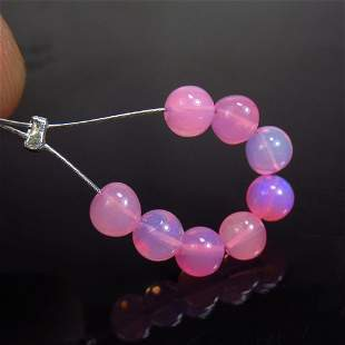 2.17 Ct Natural 8 Drilled Pink Fire Opal Beads