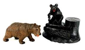 Two Black Forest Bears, 16 cm.