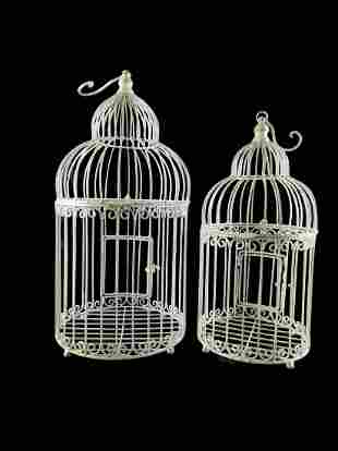 A set of 2 bird cages - decorative in garden or inside