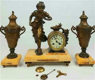 French, Antique Moreau Clock