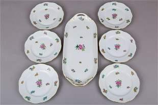 Herend Eton Pattern Dessert Set for Six People, 7