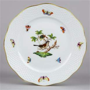 Herend Rothschild Bird Dessert Plate, Motif #1, #519/RO