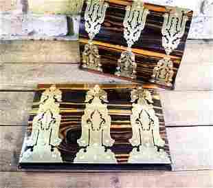 Victorian Coromandel Desk Box & Blotter