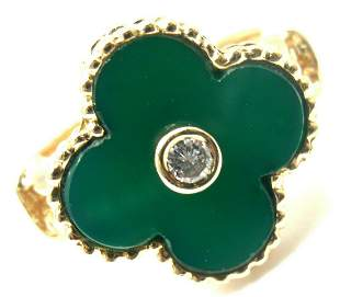 Authentic! Van Cleef & Arpels Alhambra 18k Gold Green