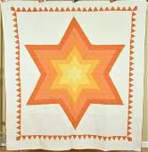 30's Lone Star Quilt, Sawtooth Border