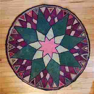 Mariner's Compass Hooked Rug