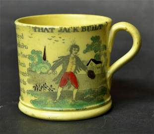 Canary Yellow Staffordshire Child's Mug