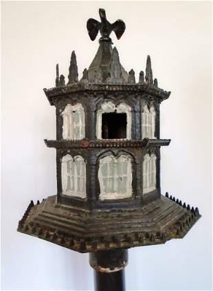 C.1886 Cast Iron Birdhouse By Miller Iron Co.