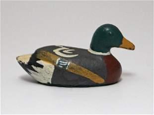Antique Duck Decoy Cast Iron Hubley Paperweight