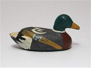 Antique Duck Decoy Cast Iron Hubley Paperweight