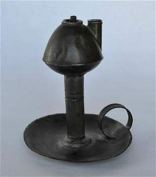 American Tin Whale Oil Finger Lamp