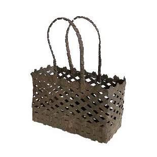 19th C. Anniversary Tin Basket