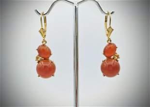 Carnelian & Citrine Earrings