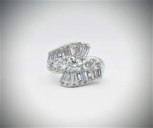 Sterling Silver Sz 7 Cubic Zirconia Anniversary Ring