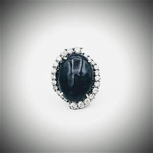 Sterling Silver Sz 7 Pale Green Amethyst & Peridot Ring