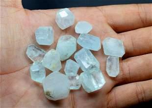 15 pieces Aquamarine beads lot from skardu pakistan