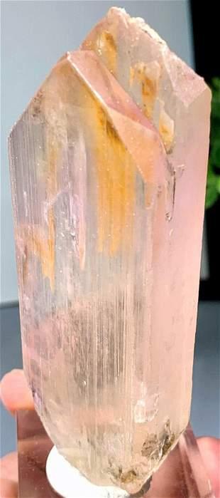 Natural Kunzite Crystal , Pink Kunzite Natural Twinned