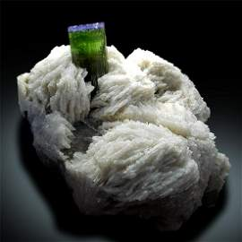 Tourmaline Crystal with Quartz and Albite Mineral