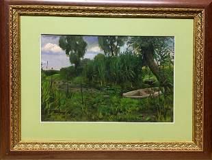 Oil painting Natural landscape Tsyupka Ivan Kirillovich