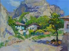 Oil painting Among the mountains Tepeta Miacheslav