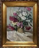 Oil painting Peter Kuzmich Stolyarenko Flowers