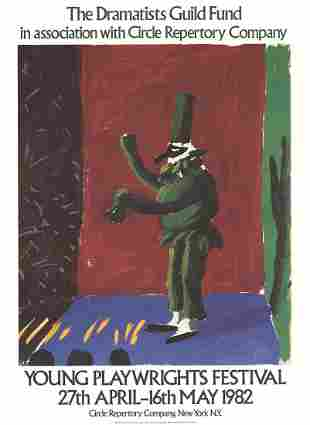 Detail from Pulcinella With Applause - David Hockney