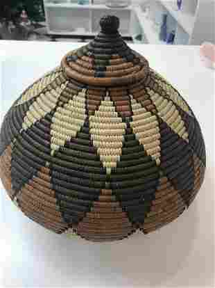 African Zulu Wedding Basket
