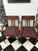 Knoll Mid-Century Upholstered Red Chairs (Pair)