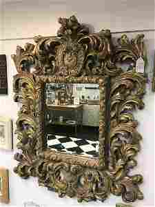 Vintage Baroque Style Guilded Mirror