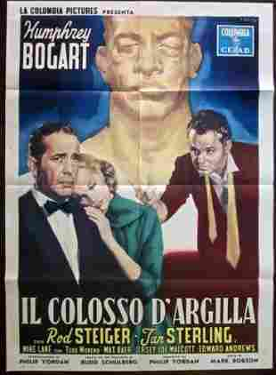 The Harder They Fall - Bogart (1956) Italian 1P Movie