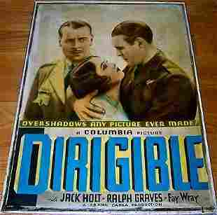 "Dirigible '31 30"" X 40"" Early Capra In Race To"