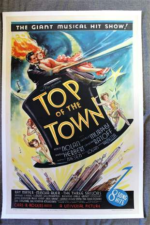 Top Of The Town (1937) US One Sheet Movie Poster LB