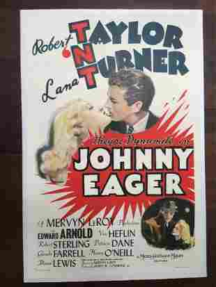 Johnny Eager - Lana Turner (1941) US One Sheet LB