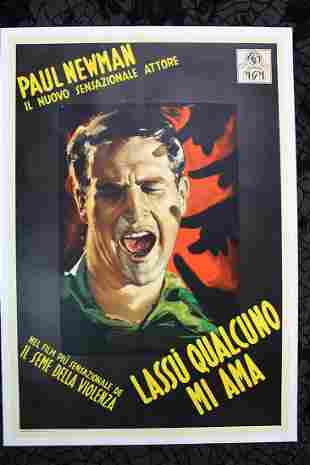 """Somebody Up There Likes Me - Paul Newman (1956) 39"""" x"""