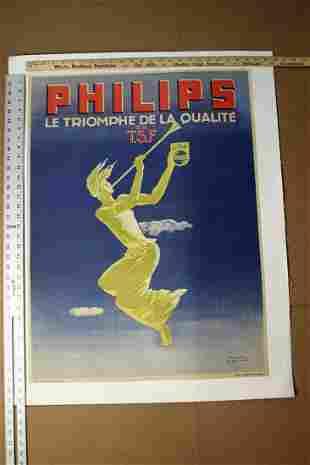Philips Le Tromphe De La Qualite En T.S.F (1945) Art by