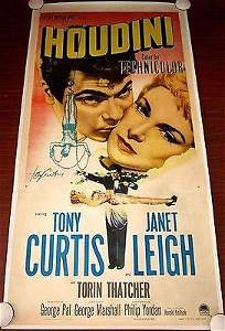 Houdini - Tony Curtis (1953) US 3SH Movie Poster LB